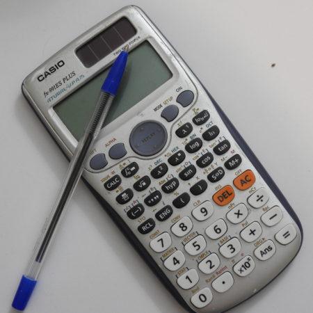 שימוש במחשבון קסיו fx-991ES Plus